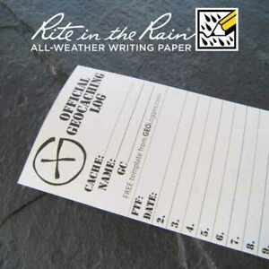 10-x-NEW-GEOLoggers-SMALL-6-0cm-Geocaching-Log-Sheet-Rite-in-the-Rain