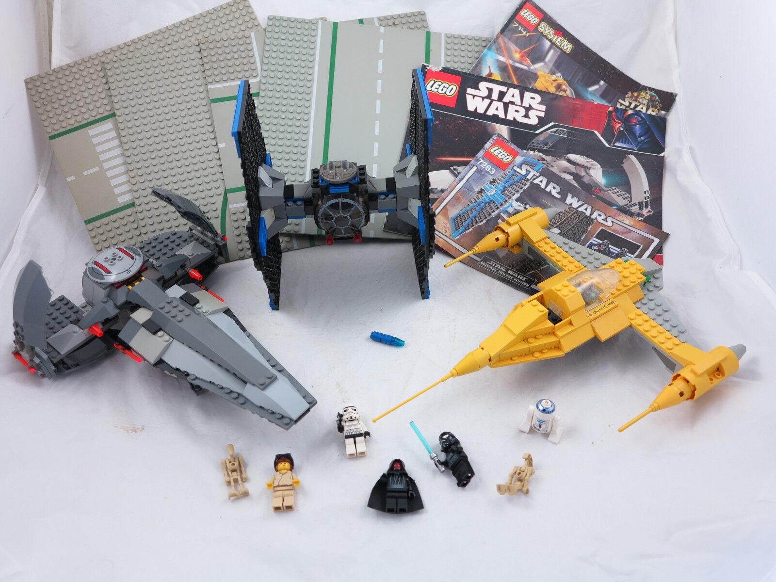 Lego Star Wars 7141 7663 7263  nave espacial, naves espaciales + 4-discos  + oba ()