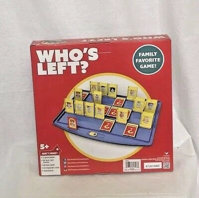 New Nickelodeon Who/'s Left The Guessing Game by Cardinal 2 player Age 5+