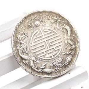 Feng Shui Chinesisch Qing Dynastie Antik Drachen Münzen Reichtum