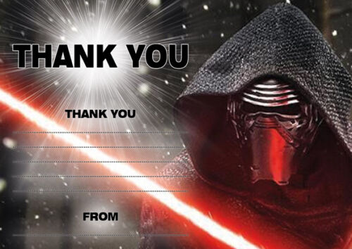 10 x STAR WARS Thank You Cards