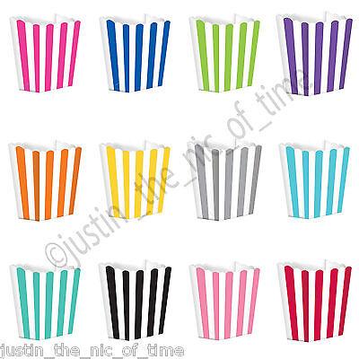 Leale A Righe Retrò Cinema Popcorn Scatole Per Nozze Favori Caramelle Candy Pop Corn X5- Promuovi La Produzione Di Fluidi Corporei E Saliva