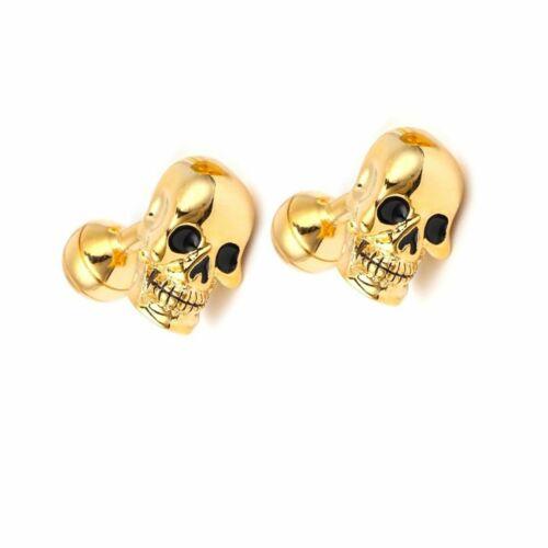 F5327 Golden Skull Cuff Link Men Shirt Cufflinks Shirt Cuff Button Best Gifts RH