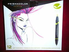 Prismacolor Premier Double-Ended Art Markers Fine & Brush Tip 12 Count Sealed