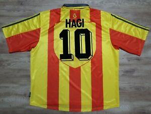 Galatasaray-Jersey-Shirt-10-Hagi-100-Original-XXL-1999-2000-Home-USED-Rare