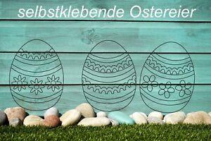Wandtattoo-Ostereier-Eier-Ostern-Aufkleber-Wandbild-Fensterbild-Easter-Egg