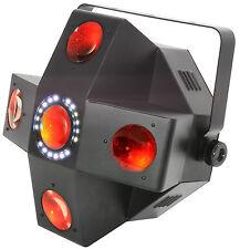 QTX Collider - 5 LENTE LED moonflower con STROBE 2 in 1 effetto di illuminazione DJ Discoteca