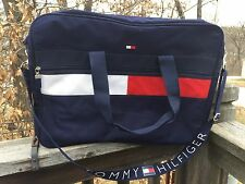 Vtg TOMMY HILFIGER 90s Travel Duffle Backpack Knapsack Bag Flag Logo Colorblock