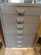 Vintage Steel Parts Cabinet 7 Drawers For Nuts Bolts And Tools Nice