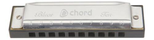 Chord 174.685 Copper Reed Plate 20 Note Diatonic Harmonica Blues Ten Harmonica