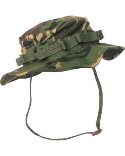 DPM Woodland Camouflage Ripstop wide Brim Style Bush Sun Hat ARMY Cadet SAS SF