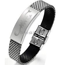 Stainless Steel Black Silver Bracelet Charm Scorpion Scorpio Cuff Bangle For Men