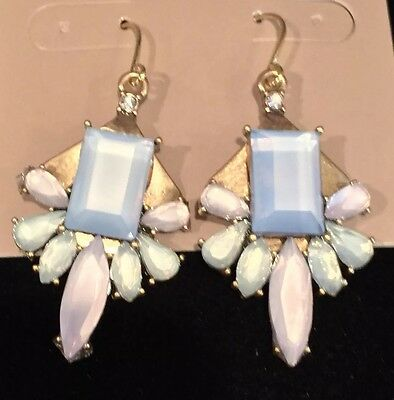 J.Crew FACTORY PASTEL STONE EARRINGS! Sold Out Nwt New$26.50 Dusky Sky With Bag!