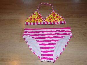 a0381d6e8e166 Size XS 4-5 OP Bikini Bathing Swim Suit Swimsuit Pink White Stripes ...