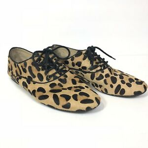 0bab7c66c5c Steve Madden Cow Hair Animal Print Trouser Lace up Oxfords Women s ...