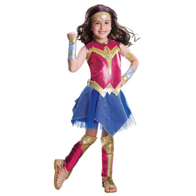 Batman V Superman Dawn of Justice - Deluxe Wonder Woman Costume for Kids M 620613 | eBay  sc 1 st  eBay & Batman V Superman Dawn of Justice - Deluxe Wonder Woman Costume for ...