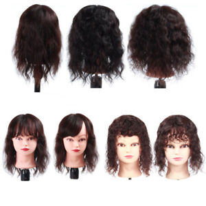 Clip-in-100-Human-Hair-Top-Topper-Toupee-Piece-Curly-Wavy-With-Bangs-Hairpiece