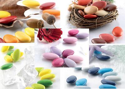Confetti Buratti Al Cioccolato Multicolor Sfumati 1kg Bomboniere Nascita Nozze Domanda Che Supera L'Offerta