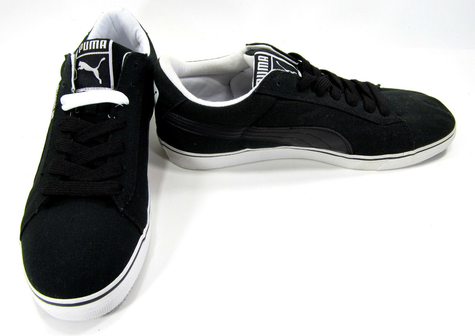 Puma shoes S Vulcan Canvas Black White Sneakers Size 11