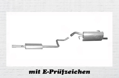 1.1 1.3 Auspuff Endtopf Mitteltopf Schelle 454 Auspuffanlage Smart Forfour