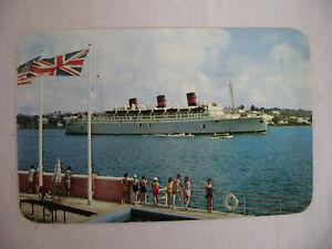 VINTAGE PHOTO POSTCARD QTEV QUEEN OF BERMUDA CRUISE SHIP - Queen of bermuda cruise ship