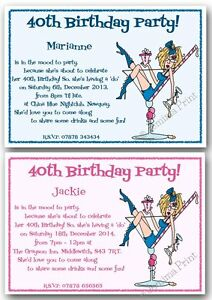 10x Personalised 18th 21st 30th 40th 50th 60th Funny Birthday Party