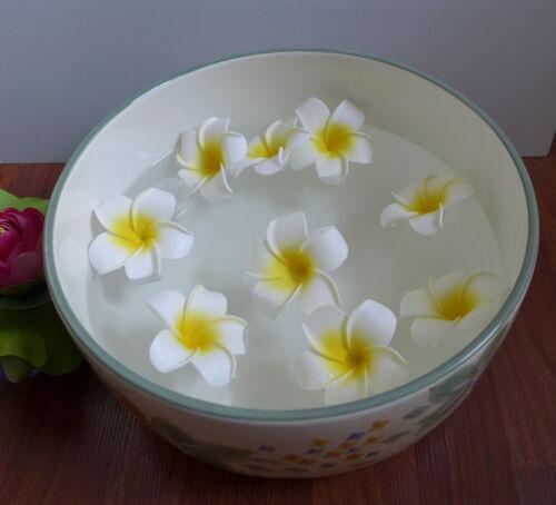 "48 Artificial Foam Flowers 2.7/"" 7 cm Yellow Plumeria Heads"