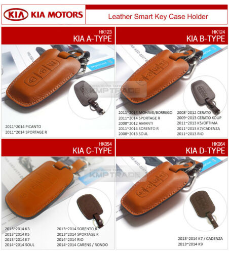 Promotion Natural leather Key Case Holder Cover for KIA 2015-2017 Sorento UM