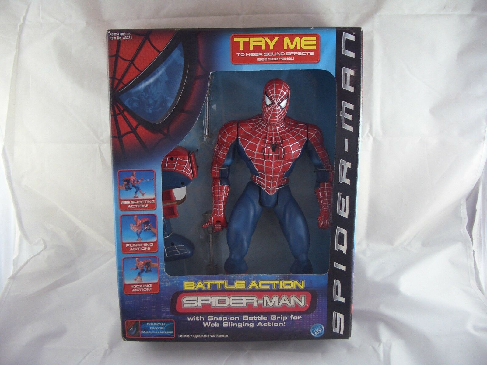 Marvel Toy Biz Spider-Man  Action Figure 13  Tall With Battle Grip  les dernières marques en ligne