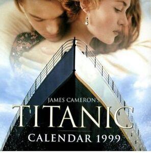 JAMES-CAMERON-039-S-TITANIC-CALENDAR-1999-Film-Movie-Kate-Winslet-Leonardo-DiCaprio