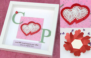 Image is loading Traditional-second-2nd-cotton-wedding-anniversary-gift -frame-