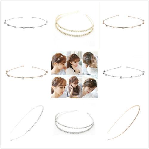 Wedding Bridal Simple Crystal Rhinestone Diamante Tiara Headband Hair Band Clasp
