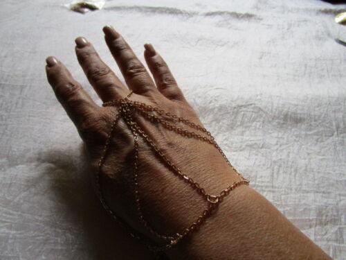Armband mit Ring Handschmuck goldfarben Verstellbar MODESCHMUCK