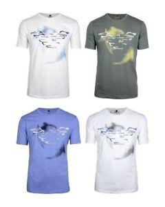 New-Armani-Jeans-Men-T-shirt-100-Cotton-Short-sleeve-Crew-Neck-Size-S-M-L-XL-XXL
