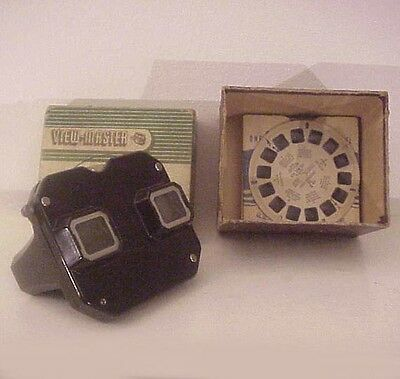 View-Master Stereoscope Original Box, Patent Date February 6 Made in USA Scenic Reels 1940
