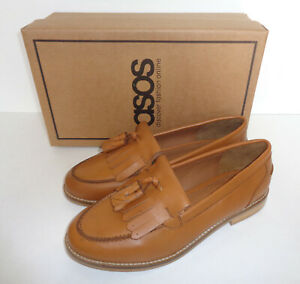 New Ladies Tan Wide Fit Leather Shoes