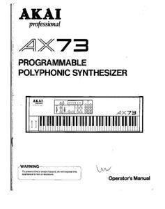 akai ax73 synthesizer owners instruction manual ebay rh ebay com Owner's Manual Repair Manuals