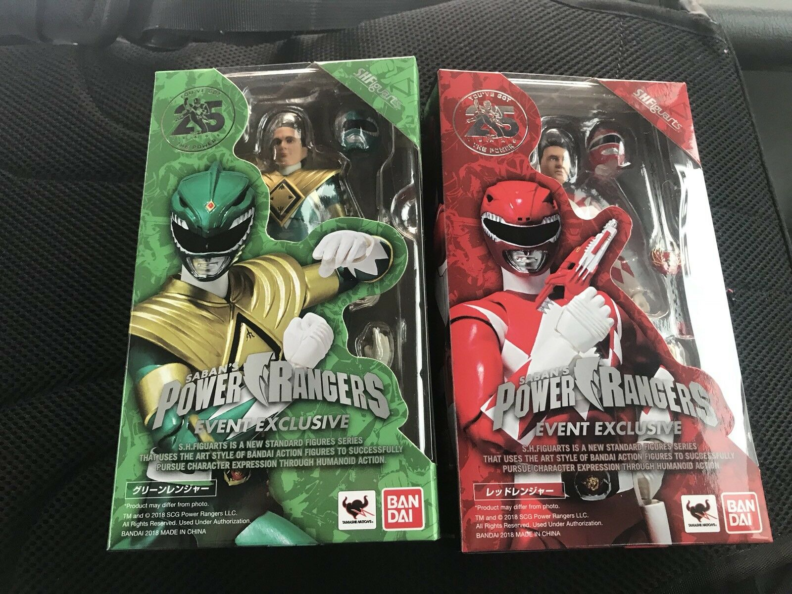 SDCC 2018  Tamashii Nations S.H. Figuarts ROT and Grün Power Rangers Set MISB