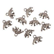 50Pcs Silver Tone Bear 5x10mm Baby Pacifier Charms Pendants 9X13mm,Beads