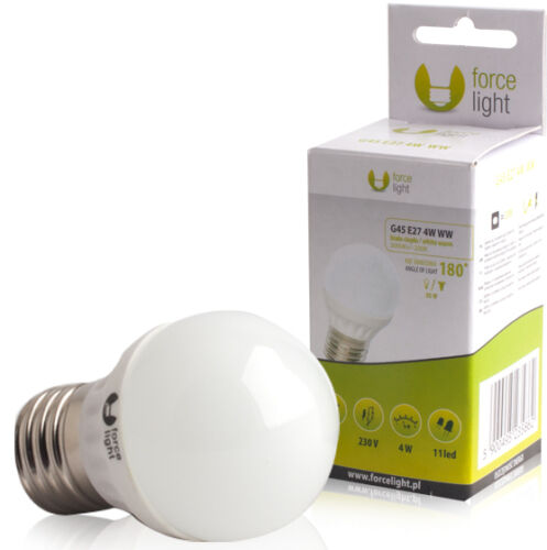 LED Birne rund Glühbirne Glühlampe Lampe Sparlampe E27 G45 warmweiß ECO 4W = 40W
