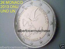 MONACO 2 euro commemorativo 2013 fdc unc 20 anni adesione ONU UNO UN Монако