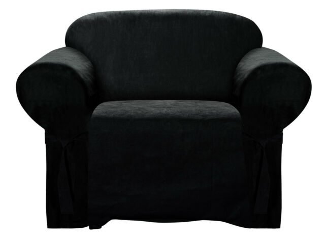Chair Slipcover Soft Micro Suede w/ Elastic Band Under Seat Cushion