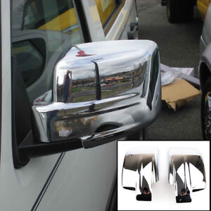 For-Jeep-Patriot-Liberty-Pair-Chrome-Door-Side-Mirror-Cover-Trim
