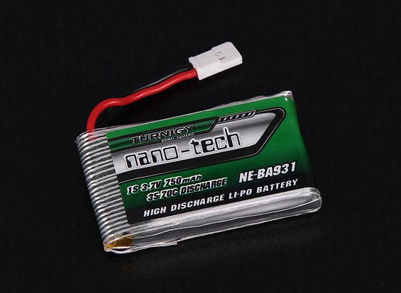 BATTERIA LIPO TURNIGY NANO-TECH 750 MAH 1S 35-70C LIPO 3.7 V PER NINE EAGLES SOL