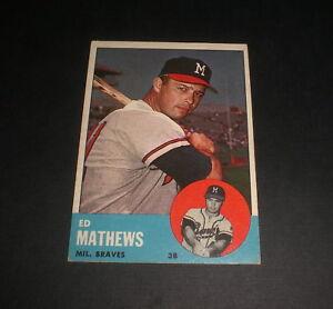 Details About 1963 Topps Ed Mathews Baseball Card 275