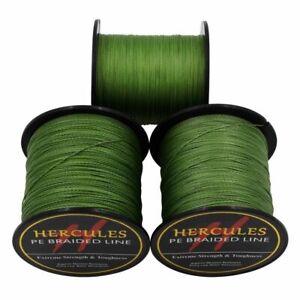 Hercules-Army-Green-Braided-100M-2000M-6lb-300lb-Extreme-PE-Super-Fishing-Line