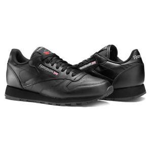 reebok classic mens trainers black