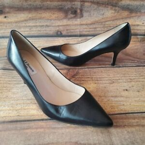L.K. Bennett Black Patent Leather Round To Classic Court