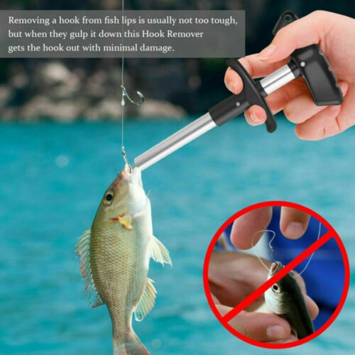 3Pcs Fishing Pliers Cutter Fish Lip Grip Gripper with Hook Remover Tool Set Kit