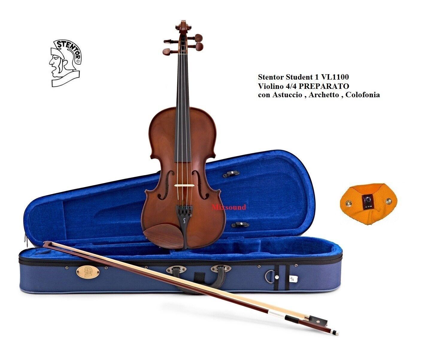 Violino STENTOR modello Student I misura 4 4 PREPARATO CON CUSTODIA ARCO e PECE